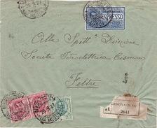 R-Eil-Brief Von Genova Nach Feltre - Storia Postale