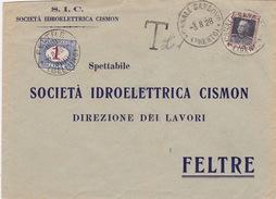 Brief Von Finale San Bovo Nach Feltre, Taxiert - Postage Due