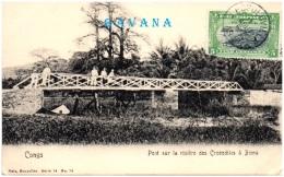 CONGO BELGE - Pont Sur La Rivière Des Crocodiles à BOMA - Congo Belga - Otros