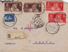Brief Von Napoli Nach Brava / Somalia - 1900-44 Vittorio Emanuele III