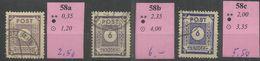 """Sowjetische Zone 58a,b,c  """"3 Briefmarken Aus Satz: Ziffernserie Ost.Sachsens, Verschied. Farben """" Gestempelt Mi.:14,00 - Zone Soviétique"""