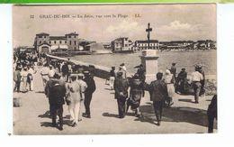 CPA-30-1932-LE GRAU-du-ROI-LA JETÉE-VUE VERS LA PLAGE-ANIMEE-NOMBREUX PERSONNAGES- - Le Grau-du-Roi