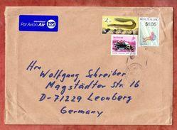 Luftpost, MiF Langflossenaal U.a., Whangarai Nach Leonberg 2017 (42594) - New Zealand