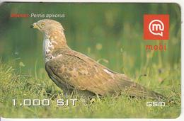 SLOVENIA - Bird, Pernis Apivorus, Mobitel Prepaid Card 1000 Sit, CN : 064182290, Exp.date 31/12/09, Used - Eslovenia