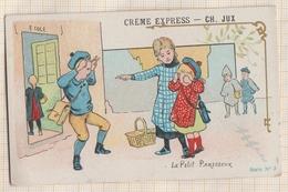 7AJ691 CHROMO CREME EXPRESS CH JUX PARIS LE PETIT PARESSEUR 2 SCANS - Confetteria & Biscotti