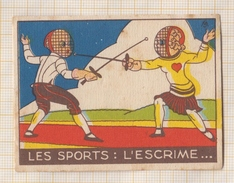 7AJ692 CHROMO LA VACHE QUI RIT LES SPORTS L'ESCRIME 2 SCANS - Trade Cards