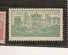 Brazil ** & 4th Cent. Of The Foundation Of São Paulo 1954 (563) - Brésil