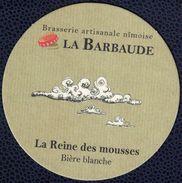 France SB Sous Bock Beermat Bière Blanche Artisanale Nîmoise La Barbaude La Reine Des Mousses - Bierdeckel