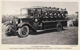 1930 POMPIER ITALIE Les Nouvelles Pompes Automobiles - Old Paper