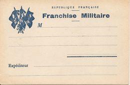 Franchise Militaire - République Française - Carte Sans Dos - Guerre 1914-18 - Cartes Postales