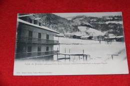 Brusson Aosta Saluti Dalla Dependance Hotel Aquila In Inverno Ed. Genta NV Primi 1900 Rare+++++ - Italie