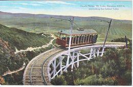 SAN  GABRIEL, CAL  MT.  LOWE  TRAM  1930's  MINT - Los Angeles