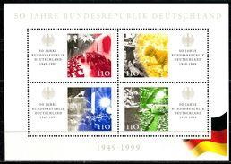 BRD - Michel Block 49 = 2051 / 2054 - ** Postfrisch - 110-110-110-110Pf  50 Jahre BRD - [7] West-Duitsland