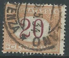 1890-94 REGNO USATO SEGNATASSE 20 CENT - S22-20 - Portomarken