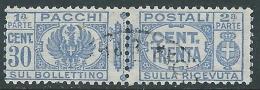 1927-32 REGNO USATO PACCHI POSTALI 30 CENT - S27-2 - 1900-44 Victor Emmanuel III