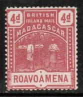 MADAGASCAR   Scott # UNLISTED 1895  INLAND MAIL (ROAVOAMENA) F-VF MINT OG LH - Unclassified