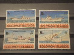 SOLOMON - 1980 NAVI 4 VALORI - NUOVO(++) - Isole Salomone (1978-...)
