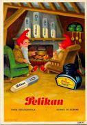 CPA Publicité Publicitaire Réclame Non Circulé Encre Gomme PELIKAN Nain Gnomes - Werbepostkarten