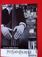 LIVE JAZZ   YVES SAINT LAURENT - Perfume Cards