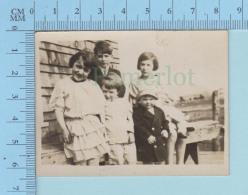 Photo D'époque - Enfants Sur Un Banc D'époque - Photos
