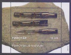 FAROE ISLANDS 2017 MNH - SEPAC Faroese Knife, Gold Foil Embossed, Miniature Sheet - Faroe Islands