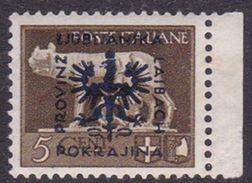 Italy-WW II Occupation-German Occupation Of Lubiana N36 1944 5c Brown, MNH - Occ. Allemande: Lubiana