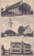 Gruss Aus Altenheim (Baden) 3 Vues ( Gasthaus Zur Linden, Kirche Mit Pfarrhaus, Volksschule) Circ 1919 - Autres