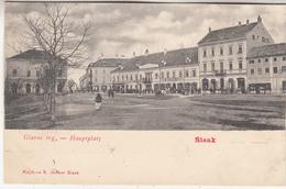 Sisak - Glavni Trg.- Hauptplatz - 1902 - Knjikara S. Junker Sisak - Kroatië