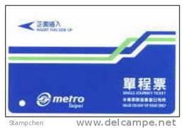 Taiwan Early Taipei Rapid Transit Train Ticket MRT E5063C0201AA1 - Tram