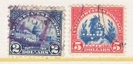 U.S. 572-3  Perf. 11  One  Perfin  (o)   No Wmk.  1923  Issue - United States