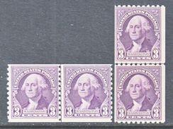 U.S. 721-2    **   LINE  PAIRS    1932  Issue - United States