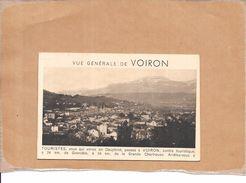 VOIRON - 38 - Carte Double - CHOCOLATIERS MM BONNAT - Commande Catalogue - BERG1 - - Voiron