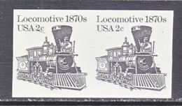 U.S.  1897 A C    **   IMPERF.  PAIR     TRAIN - Errors, Freaks & Oddities (EFOs)