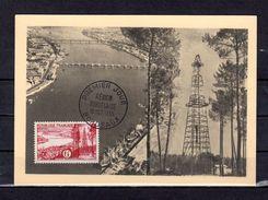 """"""" REGION BORDELAISE """" Sur Carte Maximum De 1955. N° YT 1036. Parfait état. CM - Cartes-Maximum"""