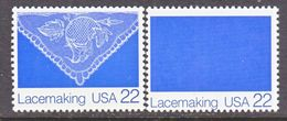U.S.  2354 C    **   WHITE  OMITTED   LACEMAKING - Errors, Freaks & Oddities (EFOs)
