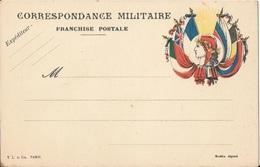 Carte Franchise Militaire  Drapeaux  Marianne - Postmark Collection (Covers)