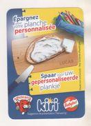 LA VACHE QUI RIT FROMAGE - IMAGE PLASTIFIEE PLANCHE PERSONNALISEE BELGIQUE - FRANCAIS NEERLANDAIS - VOIR LE SCANNER - Cheese