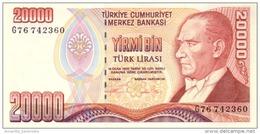 TURKEY 20000 TURK LIRASI L.1970 (1995) P-202a UNC  [TR280a] - Turkey
