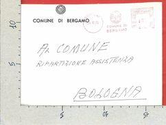 BUSTA VIAGGIATA ITALIA 1973 - Comune Di Bergamo - Affrancatura Meccanica Rossa ATM - Affrancature Meccaniche Rosse (EMA)