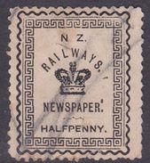 New Zealand 1890 Railway Newspaper, Half Penny, Used - 1855-1907 Crown Colony