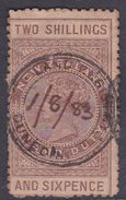 New Zealand AR33, 1907 Fiscal Stamps, 2Sh6p Brown, Used - 1907-1947 Dominion