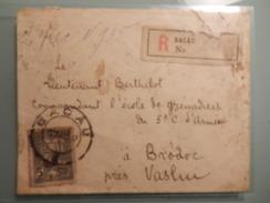 Enveloppe Postau à Bacau En Recommandée - Lettres 1ère Guerre Mondiale