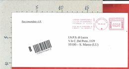 BUSTA VIAGGIATA ITALIA 2003 - RACCOMANDATA - Azienda Edilizia Residenziale Lucca - Affrancatura Meccanica Rossa ATM - Machine Stamps (ATM)