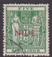 Niue Scott 89B 1941 Arms 5 Shillings Used - Niue