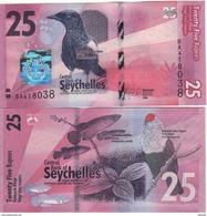 SEYCHELLES  NEW.  25. RUPEES   Pnew.   2016  UNC. - Seychelles