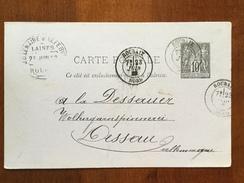E5 France Frankreich Entier Postal Stationery Ganzsache YT 89-CP2 De Roubaix Pour Dessau Allemagne - Ganzsachen