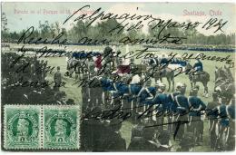 CHILE  CILE  SANTIAGO  Parada En El Parque El 18 De Setiembre   1907 - Cile
