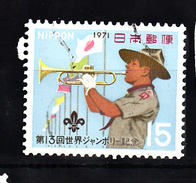 Japan 1971 Mi Nr 1118, Scouting, Trompet - 1926-89 Keizer Hirohito (Showa-tijdperk)