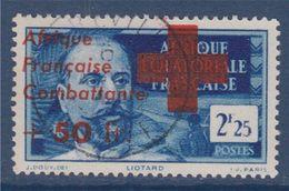 = Afrique Equatoriale Française Surchargés Afrique Française Combattante N°165 Libreville 6.8.43 - Used Stamps