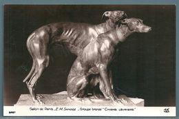 CPA - CHIENS LÉVRIERS (E.M. SANDOZ) - SALON DE PARIS - Sculptures